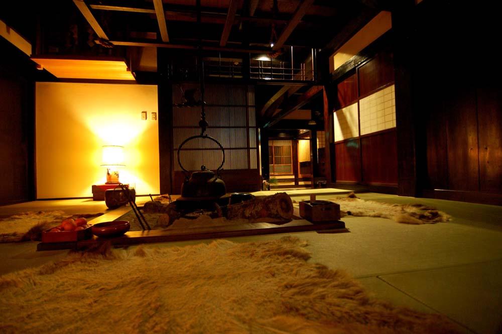 古民家・囲炉裏・伝統の宿